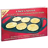Chefs Secret® Die-Cast Aluminum Double Griddle