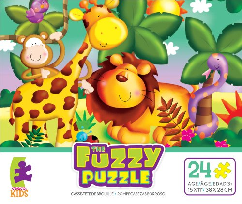 Ceaco The Fuzzy Puzzle Jungle Jigsaw Puzzle