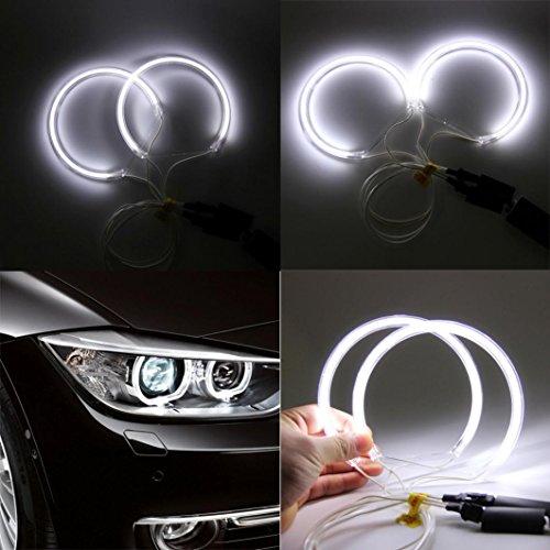 Swizze Angel Eye Halo Ring Light, 4x For BMW 3 Series E46 E36 E38 E39 CCFL White No Projector Lamp (Bmw E60 Headlight Covers compare prices)