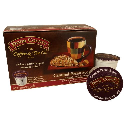 Door County Coffee Single Serve Cups For Keurig Brewers (Caramel Pecan Scone, 36 Count)