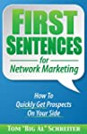 First Sentences For Network Marketing...