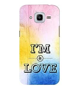 EPICCASE am in love Mobile Back Case Cover For Samsung J2 2016 (Designer Case)