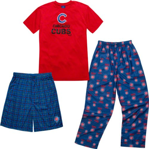Chicago Cubs Youth Adidas T-Shirt Boxer & Pant 3 Piece Sleep Set at Amazon.com