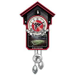 Atlanta Falcons NFL Licensed Tribute Cuckoo Clock with Sound