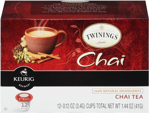 Twinings Of London K-Cup Portion Pack For Keurig K-Cup Brewers Chai Tea, 12 Count (Pack Of 6)