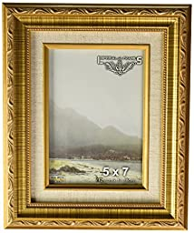 Imperial Frames 6141218 12 by 18-Inch/18 by 12-Inch Picture/Photo Frame, Dark Gold with Floral Design and a Canvas Liner