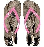 BEASTS African Elephant Flip Flops SIZE L UK 8 9 EUR 42 43 BABY PINK