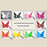 10colors 3D stereoscopic Removable butterfly wall Stickers Mural Home art Decorations decal