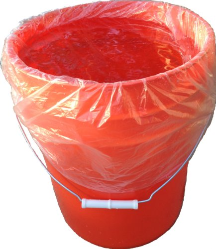5 Gallon Bucket Liner for Marinading and Brining - Disposable Pail Liner 25 per roll (25) (Food Grade Liner compare prices)