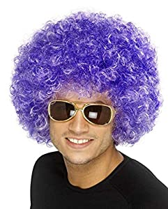 Bliss Pro's Purple Afro Wig Halloween Costume Party Wig 70 80 Disco Clown