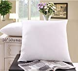 "Melife® 1 Piece 18''*18"" Simple Style White Plain Pillow Cushion Core"