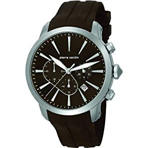 Pierre Cardin pc105431f08 Stainless Steel Case Black Silicone Mineral Men's Watch