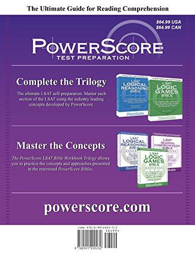 Book The PowerScore LSAT Reading Comprehension Bible (PowerScore LSAT Bible) (PowerScore LSAT Bible Series) by PowerScore Publishing