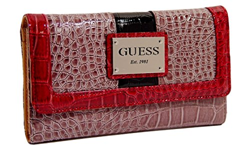 Guess Calvina Checkbook Wallet Clutch Bag, Taupe Multi