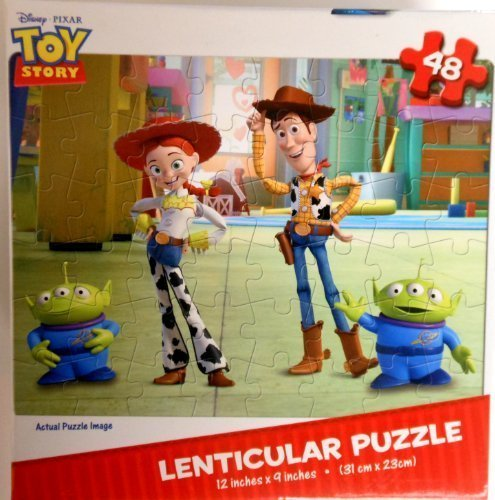 Disney Toy Story 48-Piece Lenticular Puzzle with Woody, Jessie and Aliens - 1
