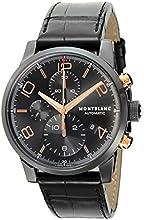 [モンブラン]MONTBLANC 腕時計 TIME WALKER ブラック文字盤 自動巻 ステンレス(BKPVD) アリゲーター革 105805 メンズ 【並行輸入品】