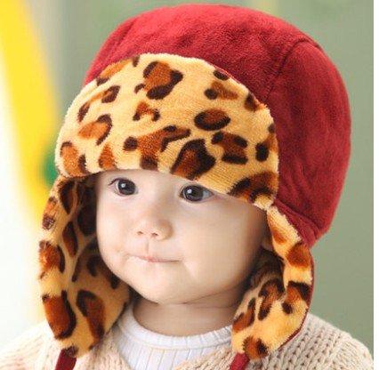 WeShop® - Nette Kinder Winter-Hippie Ohrenklappen-Mütze Lei Feng Cap 3745 Größe (48-50cm) - Red