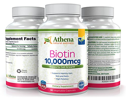 Athena-Biotin-High-Potency-10000mcg-90-Vegetable-Softgels-Capsules-Supports-Healthy-Hair-Skin-and-Strong-Nails-Supports-Hair-Growth-Suitable-for-Vegetarians