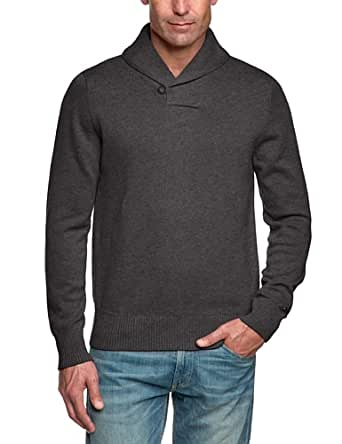 Tommy hilfiger - ruben shawl - pull - homme - gris (charcoal htr) - L