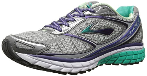 Brooks Ghost  Womens Shoes Silver Purple Green