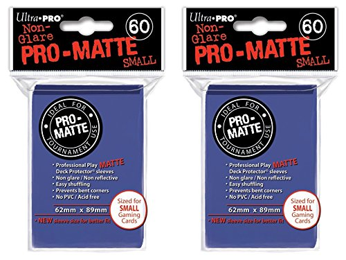 120 Ultra Pro Blue SMALL PRO-MATTE Deck Protectors Sleeves Colors Yugioh Vanguard [2 Packs of 60]