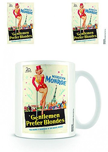 Set: Marilyn Monroe, Blondes Photo Coffee Mug (4x3 inches) And 1x 1art1 Surprise Sticker (Marilyn Monroe Coffee Mug Set compare prices)