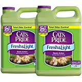 Cat's Pride Fresh and Light Multi-Cat Premium Scoopable Litter, 2-Case
