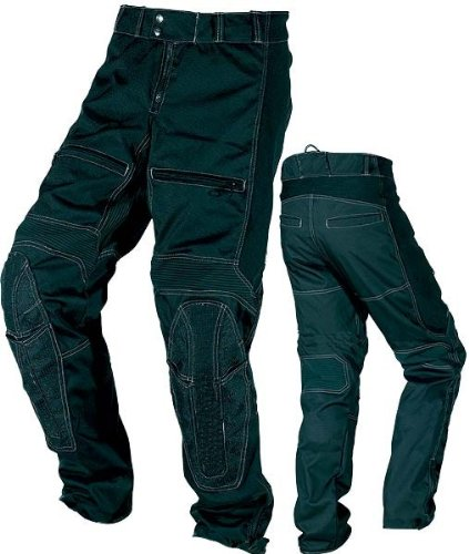 Mens Fully Vented  &  Breathable CE Armoured Waterproof Black Cordura Trousers Waist 36