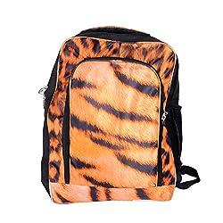 MJR Printed Laptop Backpack Bag - Big Size (Tiger print)