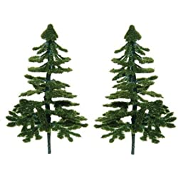 Set of 4 Miniature Fir Tree Style Artificial Evergreens for Crafting and Displaying