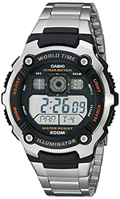 Casio Men's AE2000WD-1AV Resin and Stainless Steel Sport Watch by Casio