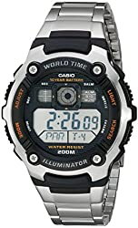 Casio Men's AE2000WD-1AV Resin and Stainless Steel Sport Watch