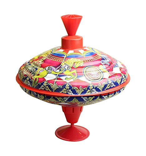 House Of Marbles Humming Carousel Tin-Top - 1