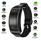 Hangang Fitness Tracker Smart Bracelet Sport tracker Activity Wristband Intelligent Watch health Tracker Heart Rate Blood Pressure Oxygen Monitor For IOS And Android Phone Business Type CK11S (black)