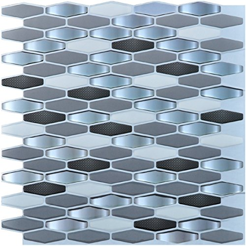 Art3d Peel and Stick Kitchen Backsplash Wall Tile, Pack of 6
