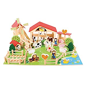 Bigjigs Wooden Play Farm
