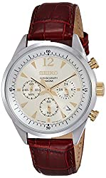 Seiko Dress Chronograph White Dial Mens Watch - SSB069P1