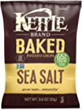 Kettle Brand Real Sliced Potatoes Baked Potato Chips, Sea Salt, 0.8-Ounce Bags (Pack of 72)