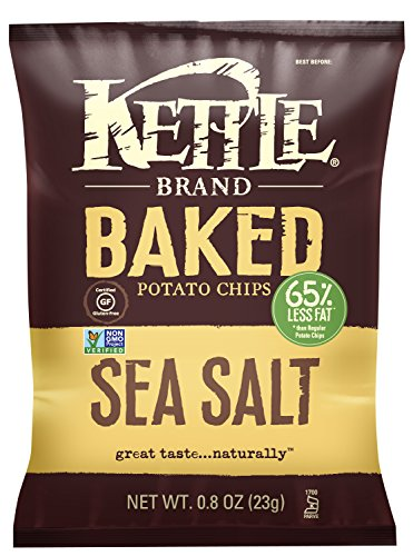 Kettle Brand Real Sliced Potatoes Baked Potato Chips, Sea Salt, 0.8-Ounce Bags (Pack of 72) (Kettle Brand Chips compare prices)