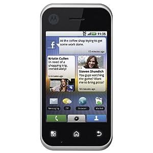 Motorola MB300 Backflip Unlocked 3G Android Phone with 5 MP Camera, Wi-Fi, GPS Navigator and Bluetooth - Silver