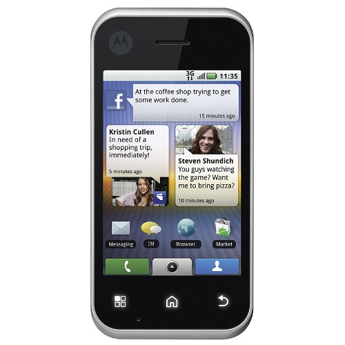 Motorola MB300 Backflip Unlocked 3G Android Phone with 5 MP Camera, Wi-Fi, GPS Navigator and Bluetooth - International Version with Warranty (Silver)