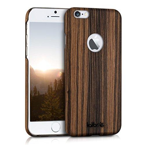 kalibri-Holz-Case-Hlle-fr-Apple-iPhone-6-6S-Handy-Cover-Schutzhlle-aus-Echt-Holz-und-Kunststoff-aus-Lindenholz-in-Braun