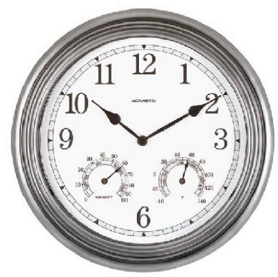 "Chaney Instrument 00920 13.5"" Pew Ind/Out Clock Clocks Wall, Metallic by Chaney Instrument"