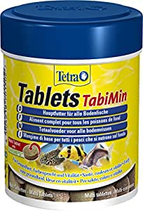 Tetra 701502 Tablets TabiMin, spezielles Hauptfutter für am Boden gründelnde Zierfische, 275 Tabletten
