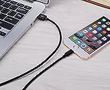 Lightning Cable, IVVO 3pcs 3FT 6FT 10FT Nylon Braided Charging Cable Cord 8-Pin Lightning to USB Cable Charger for Apple iPhone 7/7 Plus/6/6s/6 Plus/6s Plus/5/5c/5s/SE,iPad, iPod and More (Black)