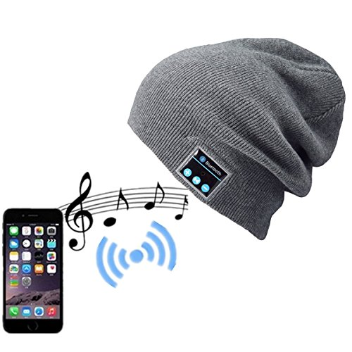 Wireless Bluetooth Beanie Headphone Sports with Speaker & Mic Hands Free