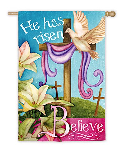 He Has Risen Believe Easter Flag