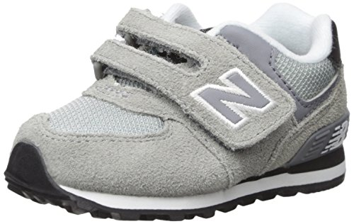 New Balance KV574V1 Infant Core Plus Oxford (Infant/Toddler), Grey/Black, 8.5 W US Toddler (New Balance Baby Shoes compare prices)