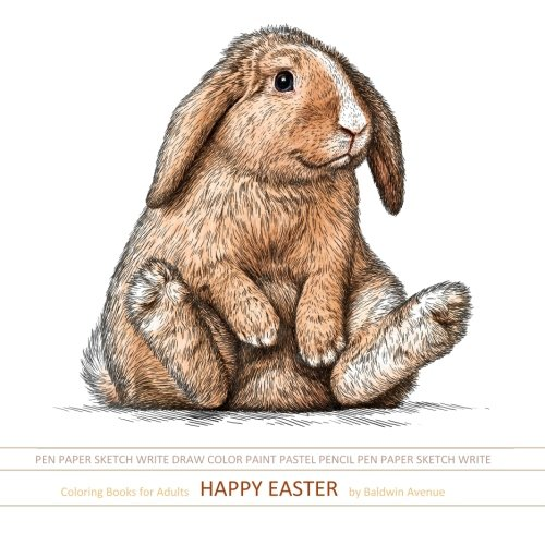 Coloring Books for Adults Happy Easter