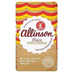 Allinson Wholemeal Plain Flour (1Kg) - Pack of 2